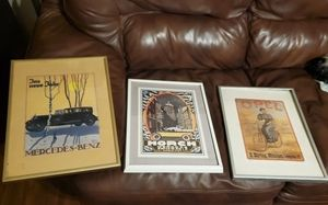 3 Vintage/Antique Car Advertisements Framed